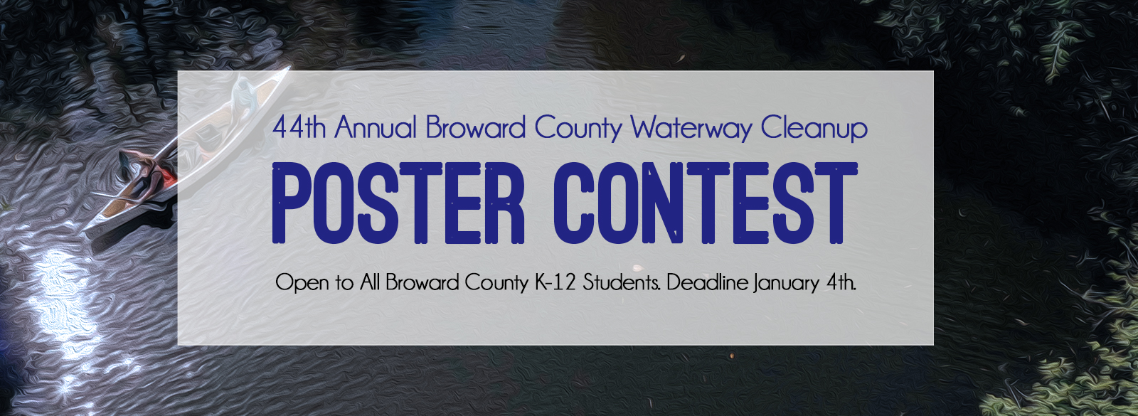 Waterway Cleanup Poster Contest