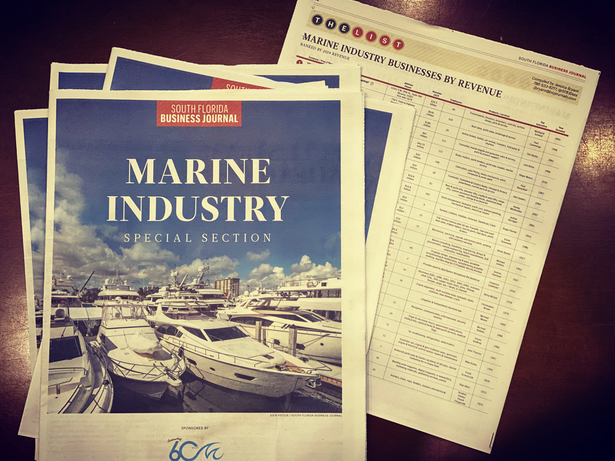 South Florida Business Journal 7th Annual Marine Industry List