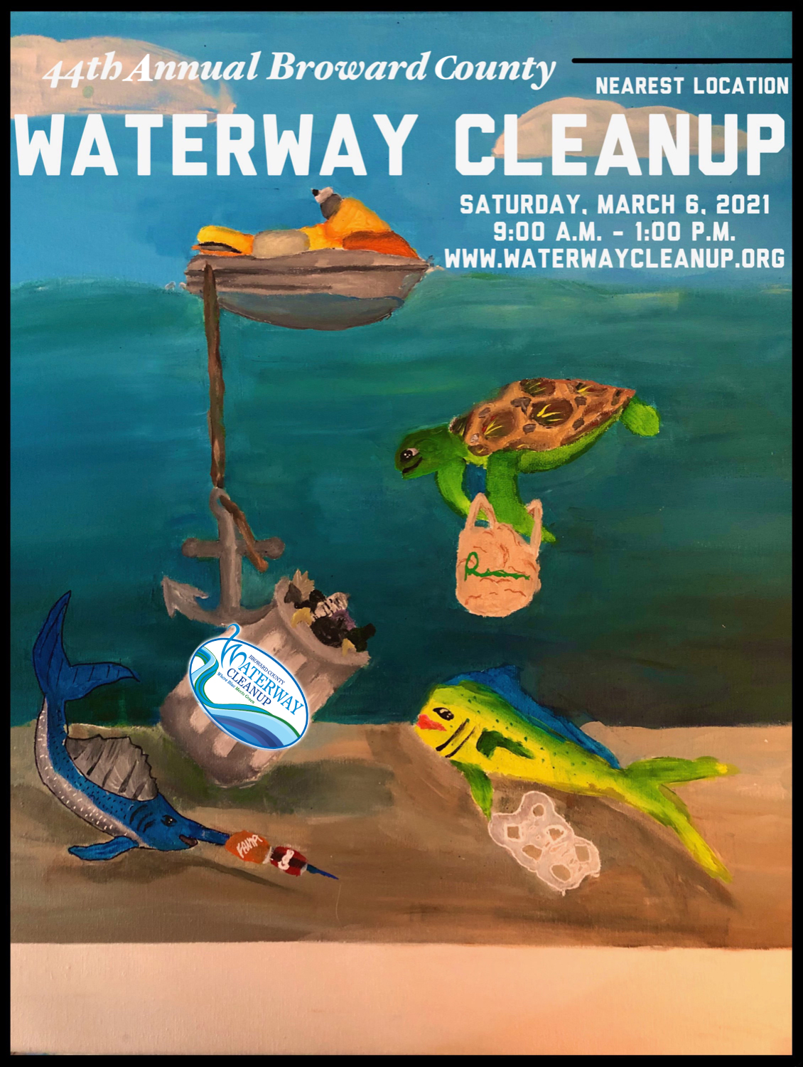 Winner of the Waterway Cleanup Poster Contest Announced
